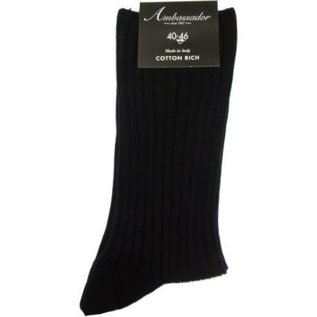Ambassador sokker uden elastik - Sorte
