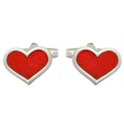 Dalaco manchetknapper - Røde hjerter
