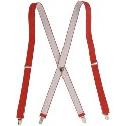 Røde x seler med kryds på ryggen