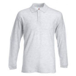 Fruit of the loom - Langærmet polo t-shirt