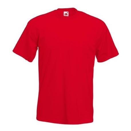 Røde Fruit of the loom t-shirts