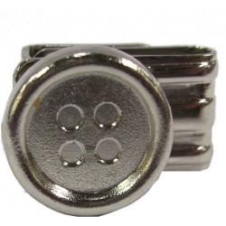 Sølvfarvede knapper til seler