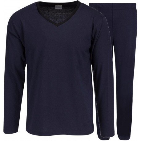 Claudio jersey pyjamas - Marineblå