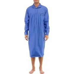 Ambassador natskjorte - Mellemblå