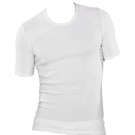 Schiesser fin rib t-shirts - Hvide