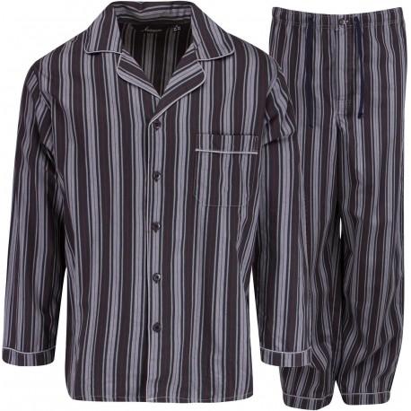 Ambassador flonels pyjamas - Sort/grå