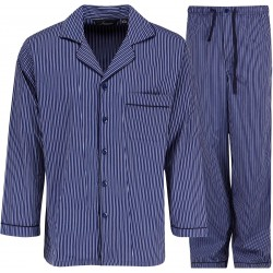Ambassador pyjamas - Blå/hvid