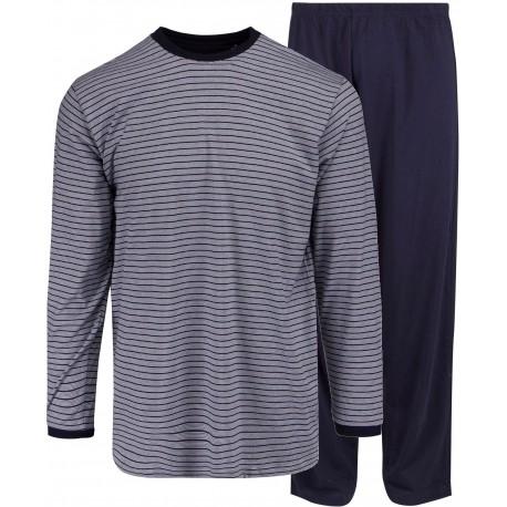Ambassador jersey pyjamas - Blåstribet