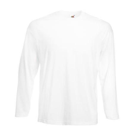 Langærmet t-shirt - Hvid