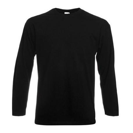 Langærmet t-shirt - Sort