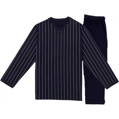 Ambassador jersey pyjamas - Stribet marineblå